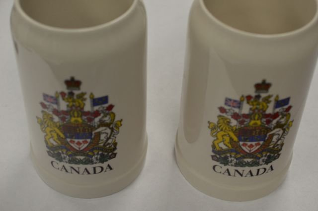 Lot of 2 CANADA Steins Measure 12 inches Tall