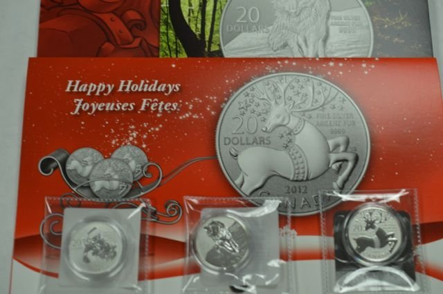 Lot of 3 .9999 Fine Silver Collector Coins  Each coin