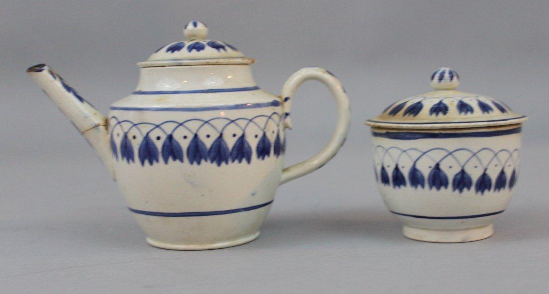 English Leeds Pearlware Child's Part Tea Service