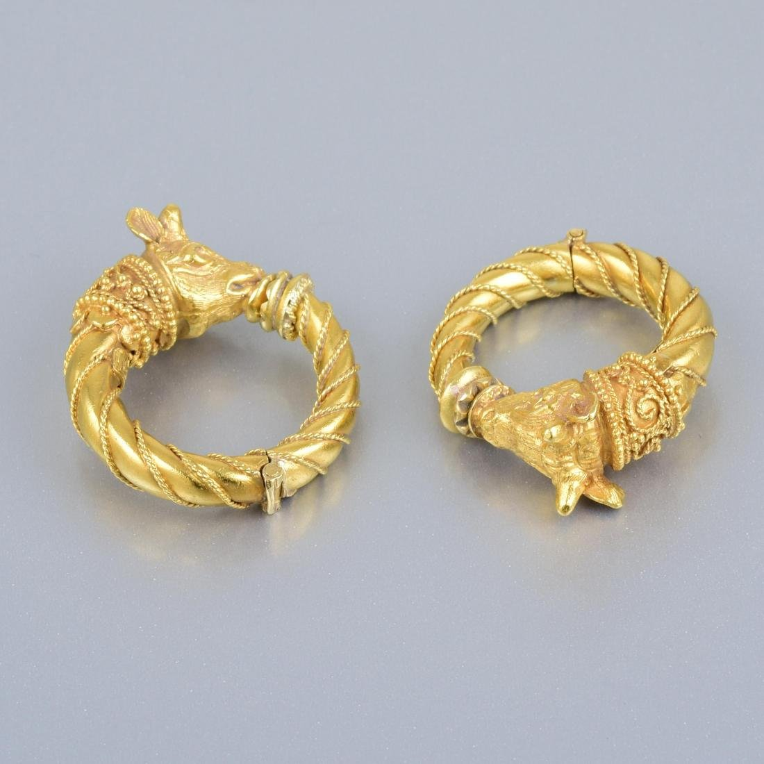 Zolotas Gold Ear Clips - 2