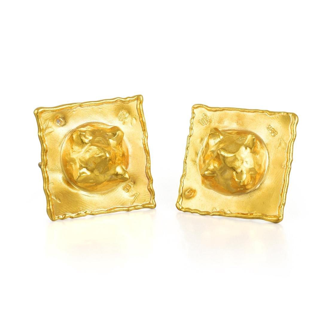 Jean Mahie Gold Ear Clips