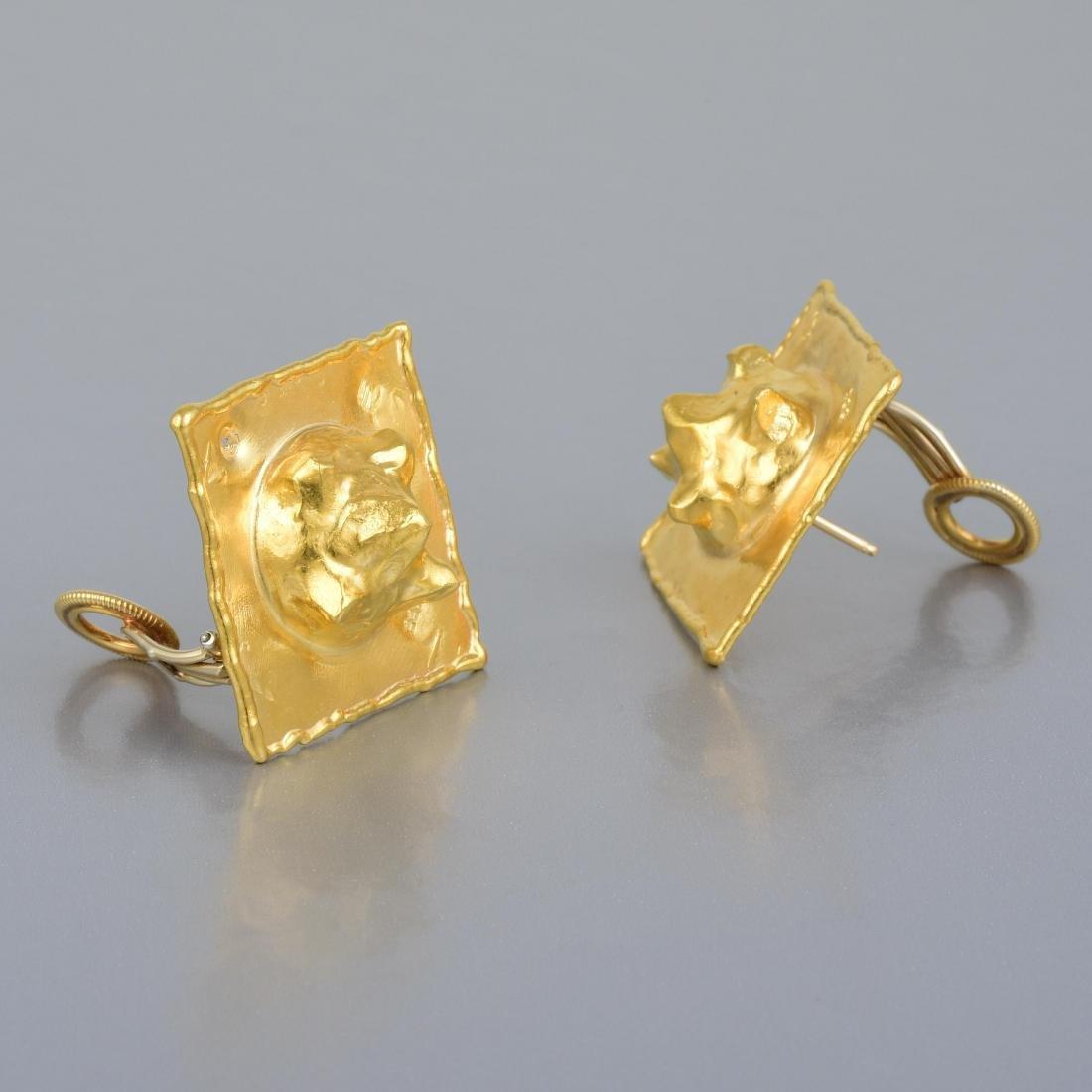 Jean Mahie Gold Ear Clips - 2