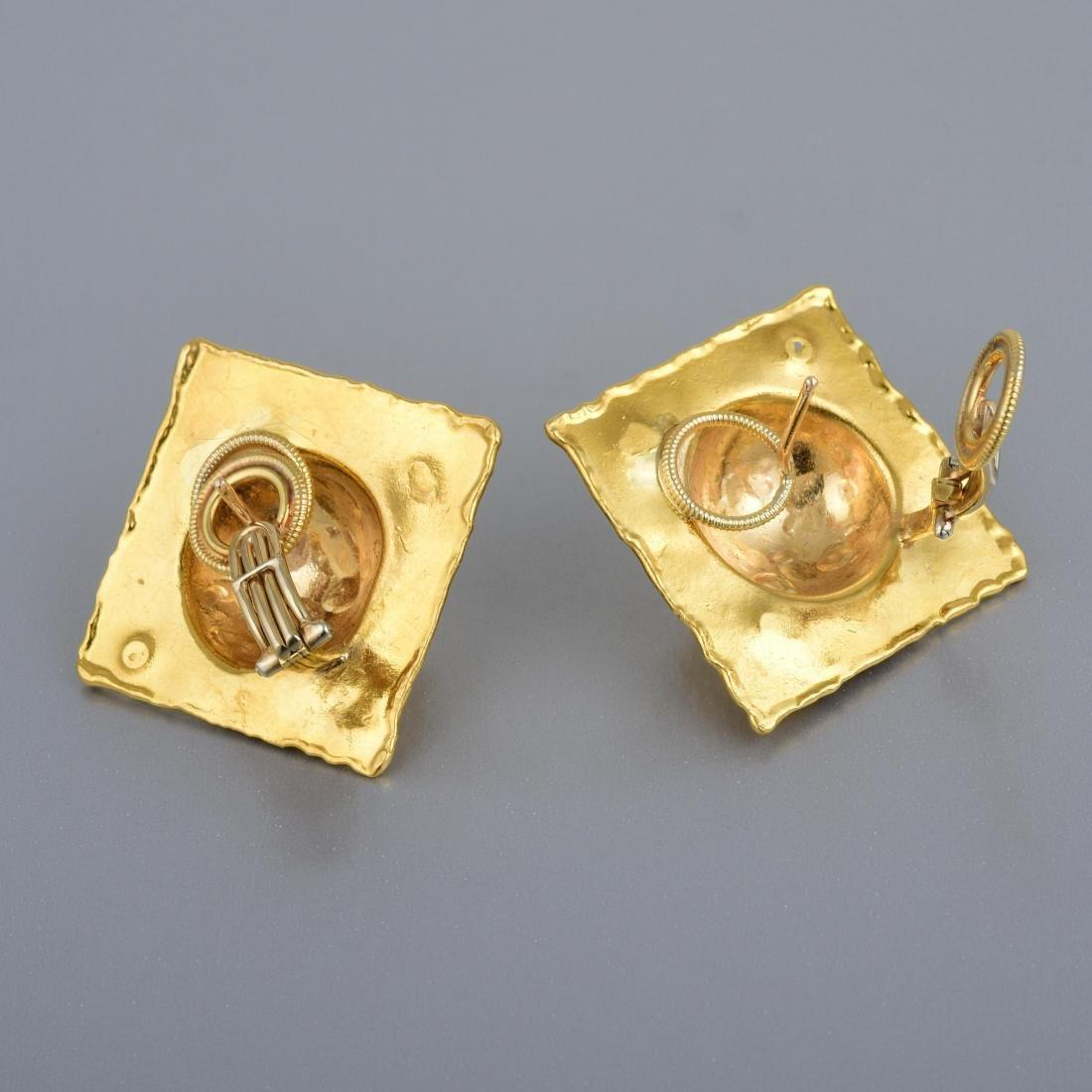 Jean Mahie Gold Ear Clips - 3