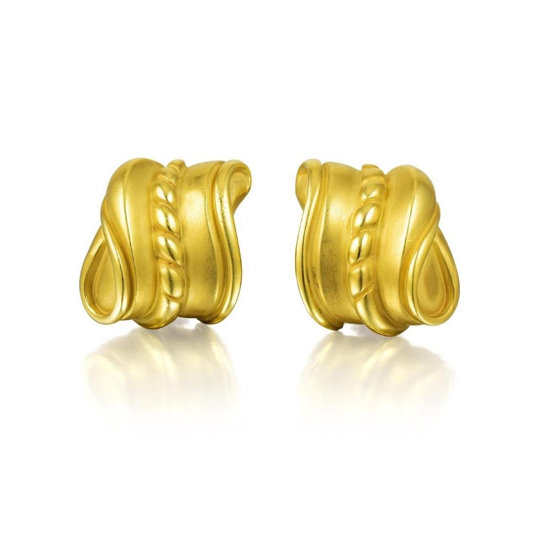 Kieselstein Cord Gold Earrings