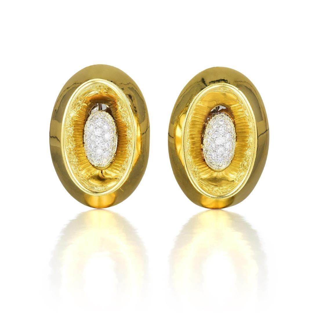 Takashi Wada Diamond Earrings