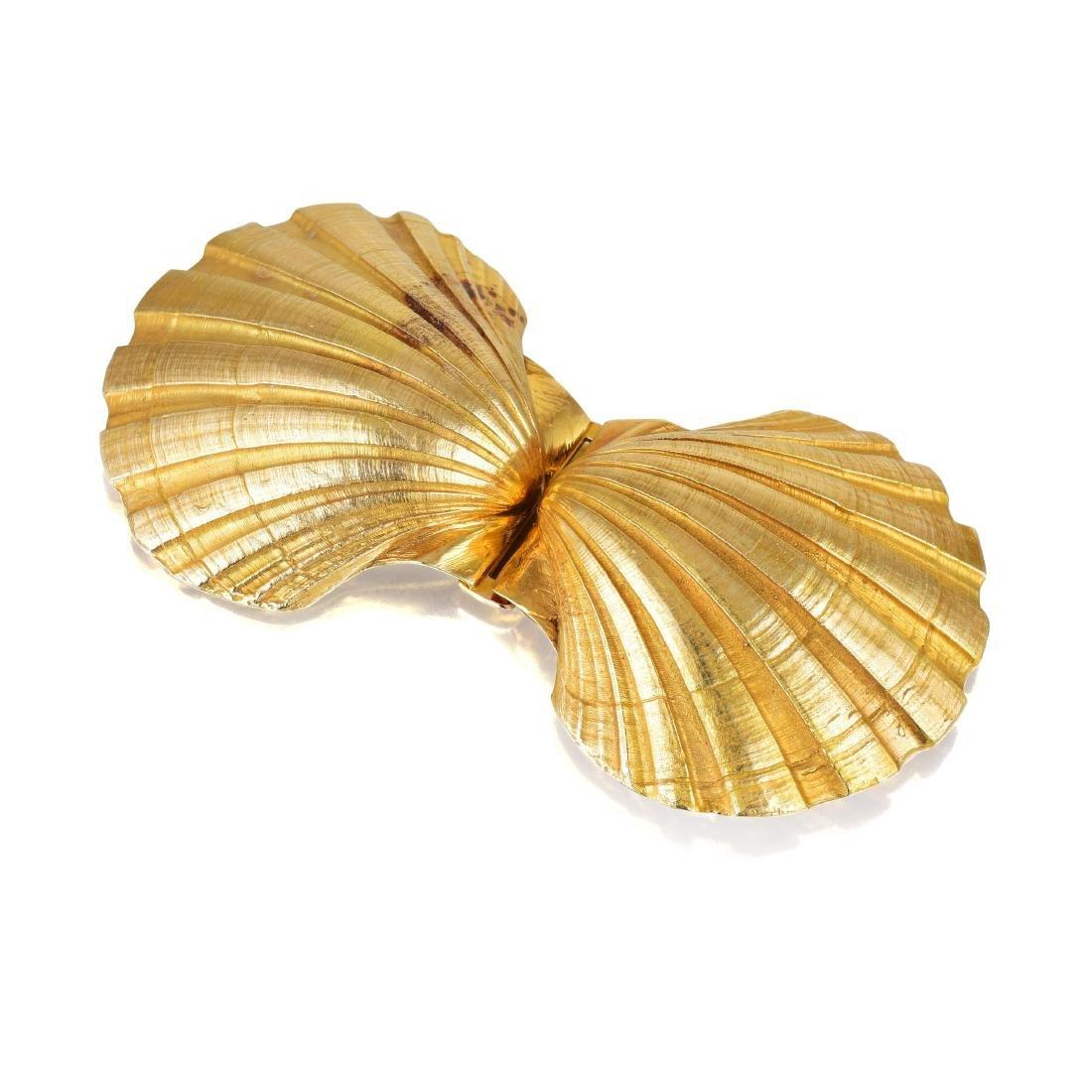 """A Gold """"Scallop Shell"""" Belt Buckle, by Saint-Gaudens"""