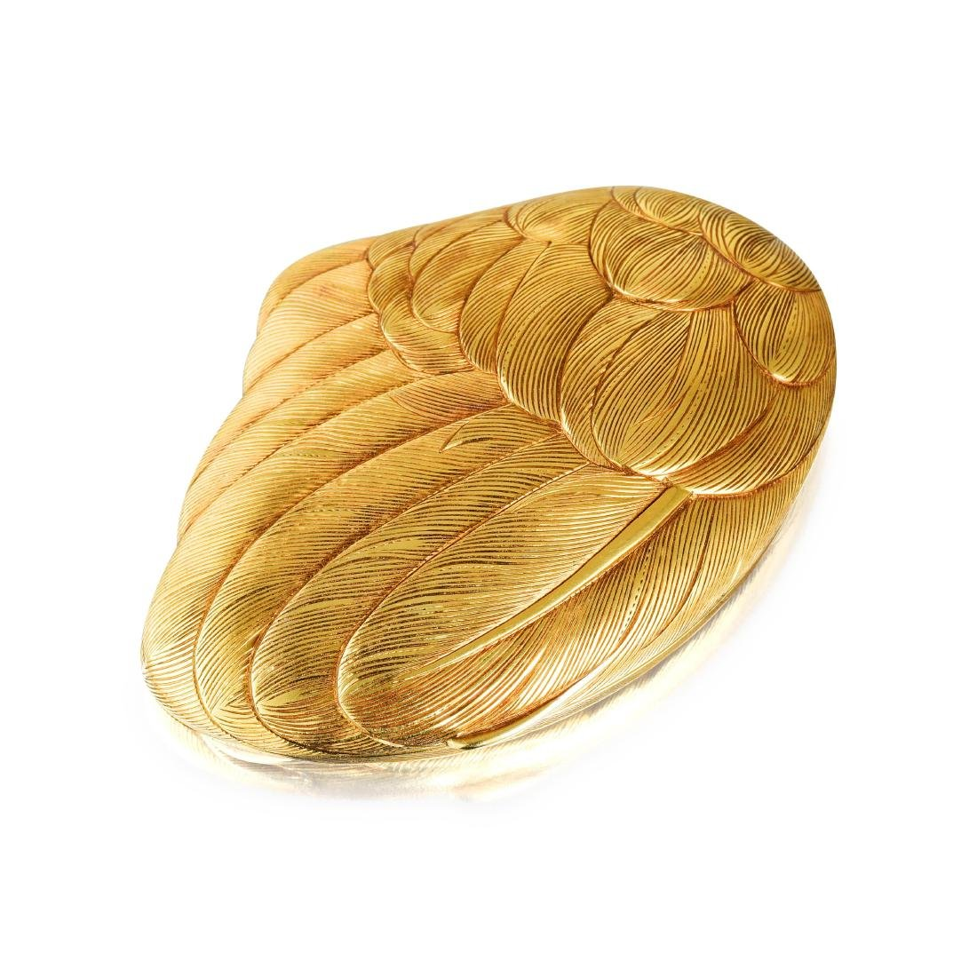 Serafini Vintage Gold Wing Powder Compact