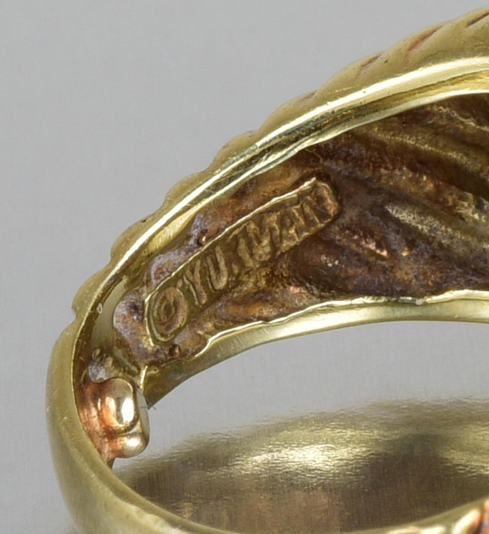 David Yurman Diamond and Sapphire Ring - 3