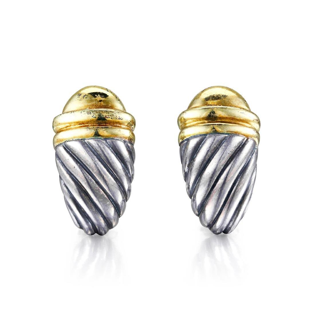 David Yurman Gold and Silver Earrings