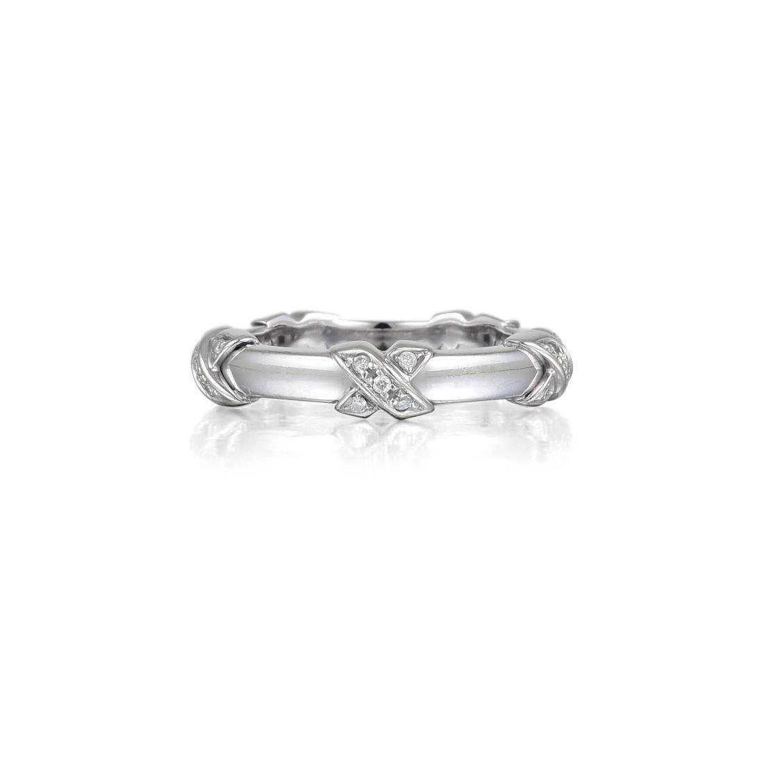 "Tiffany & Co. Diamond ""X"" Ring"