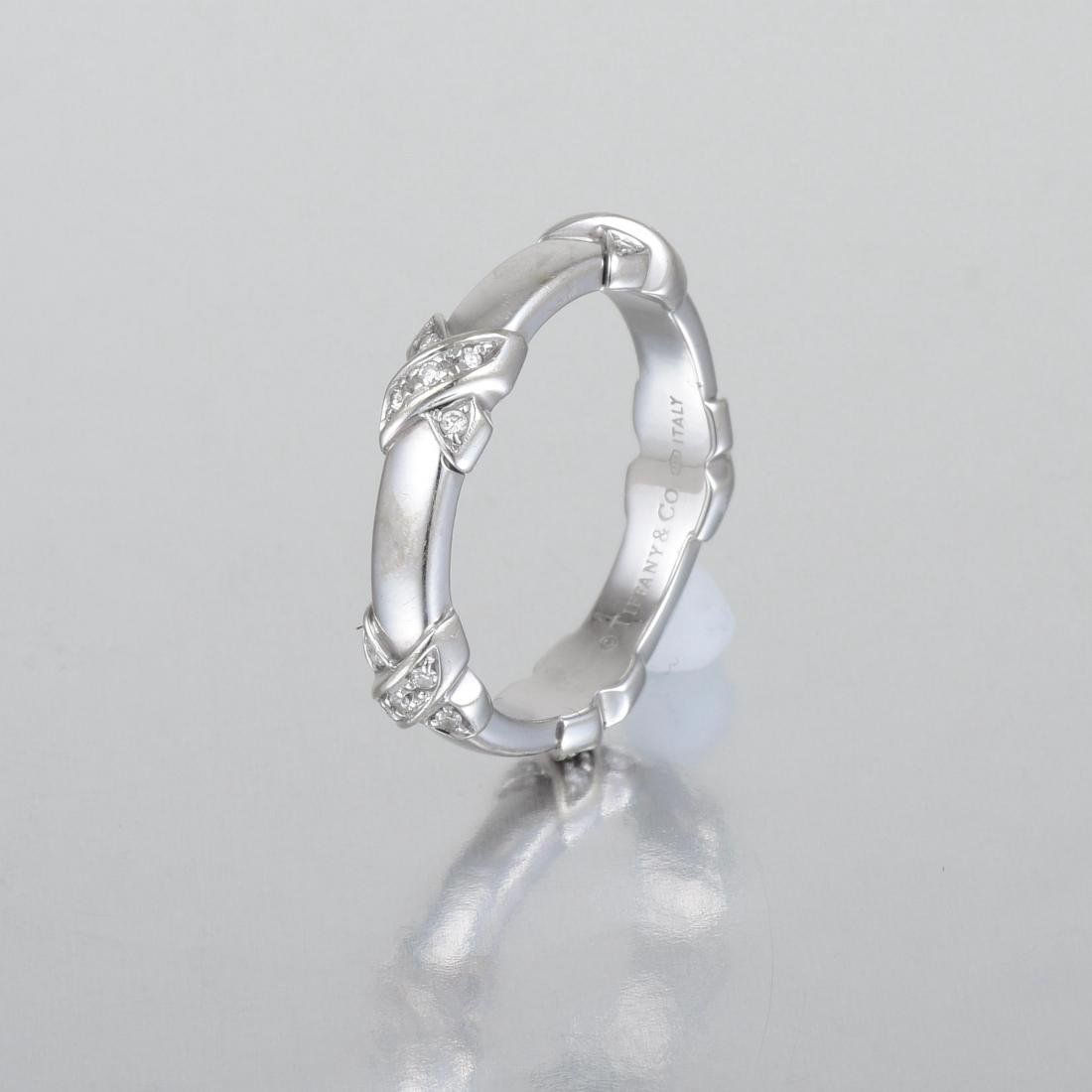 "Tiffany & Co. Diamond ""X"" Ring - 2"