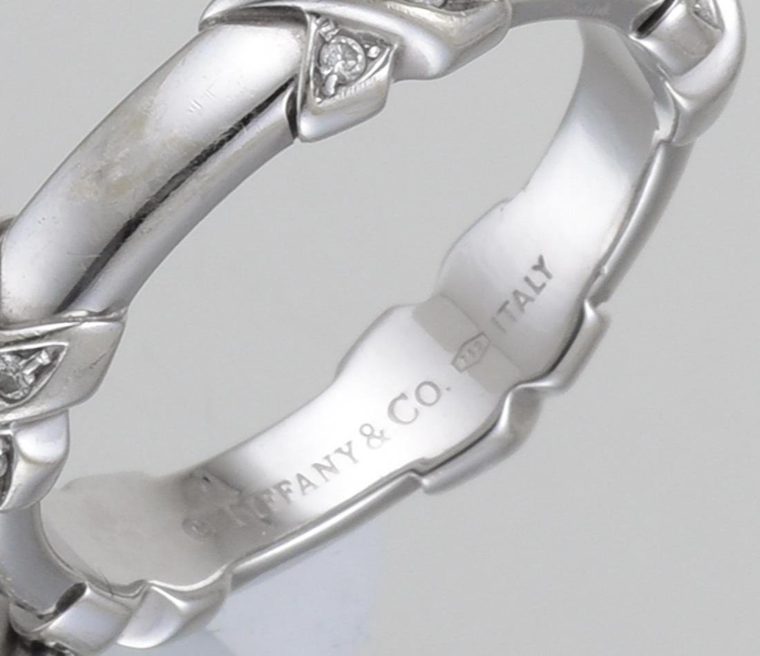 "Tiffany & Co. Diamond ""X"" Ring - 3"