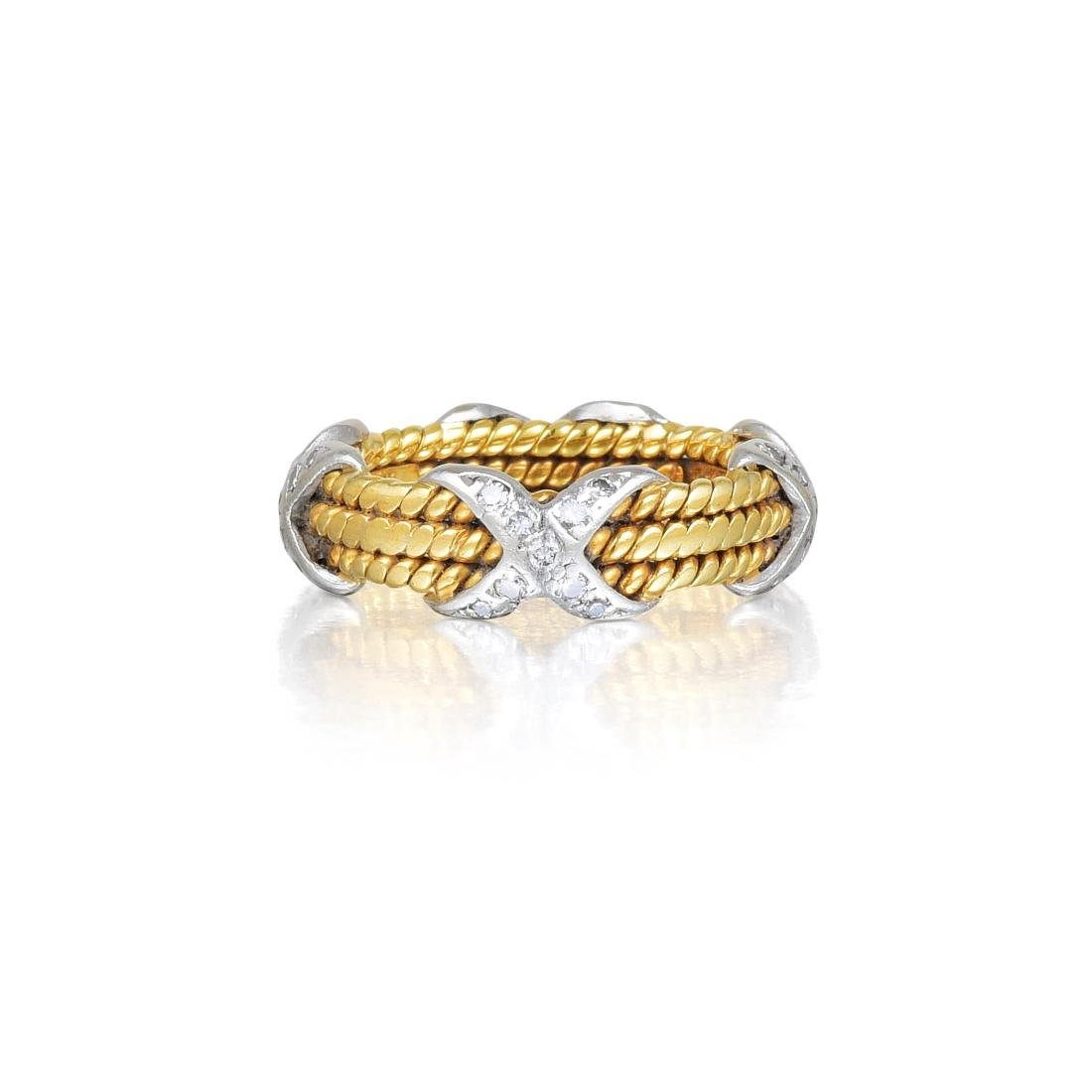 """Tiffany & Co. by Schlumberger Small Diamond """"Rope"""" Ring"""