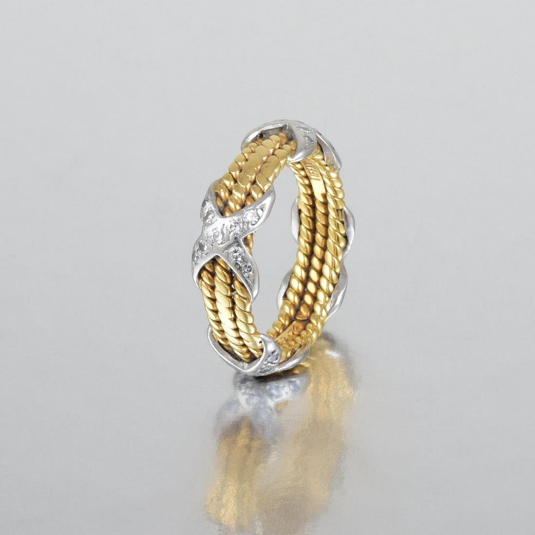 "Tiffany & Co. by Schlumberger Small Diamond ""Rope"" Ring - 2"