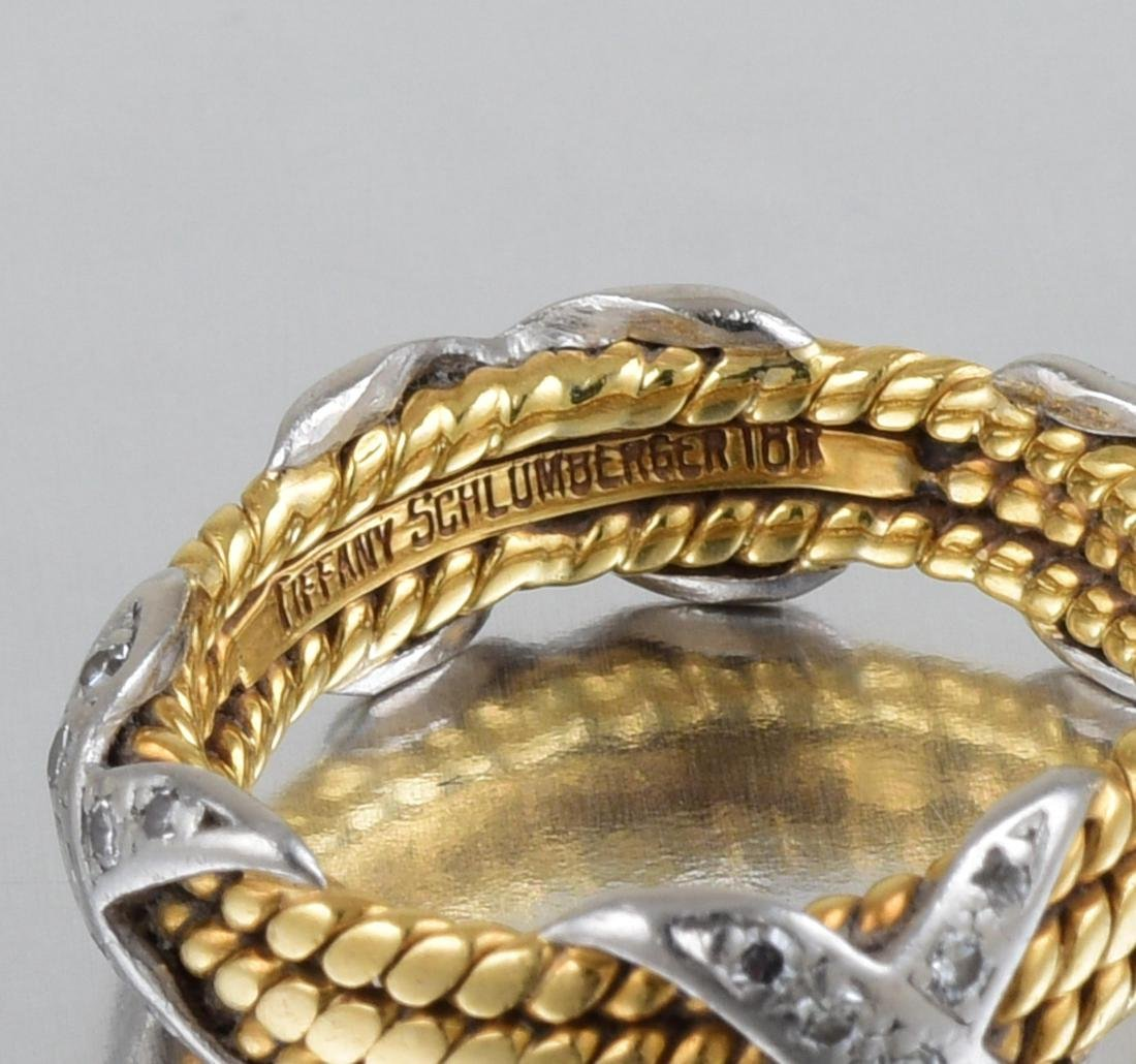 "Tiffany & Co. by Schlumberger Small Diamond ""Rope"" Ring - 3"