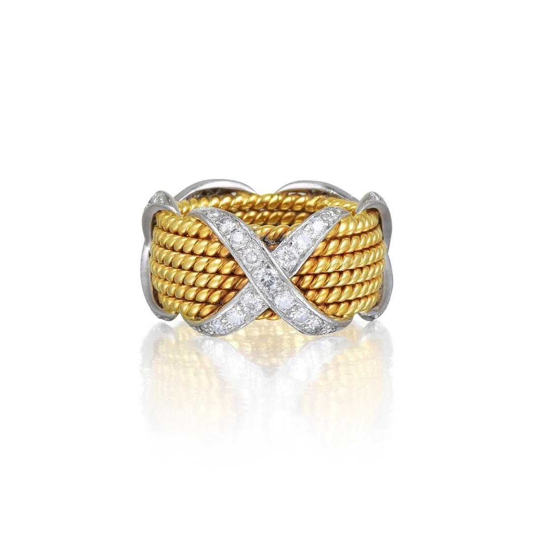 """Tiffany & Co. by Schlumberger Large Diamond """"Rope"""" Ring"""
