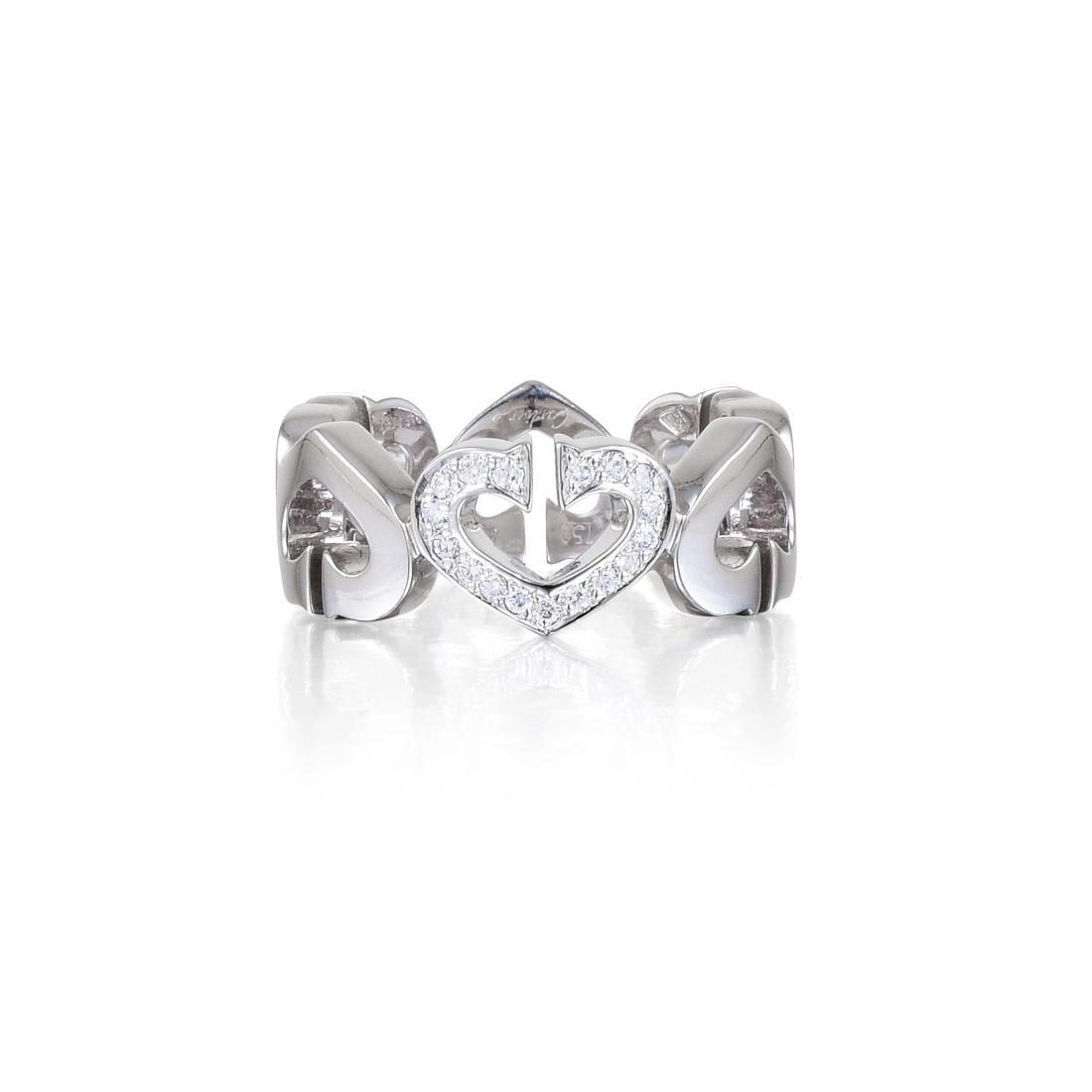 "Cartier ""Hearts and Symbols"" Diamond Ring"