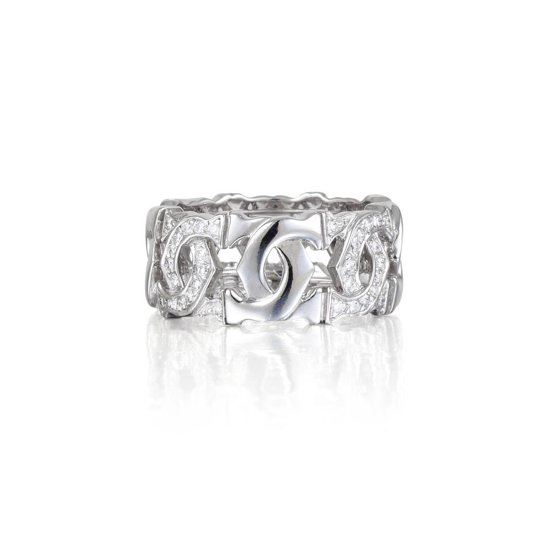 """Cartier Gold and Diamond """"Logo"""" Ring"""