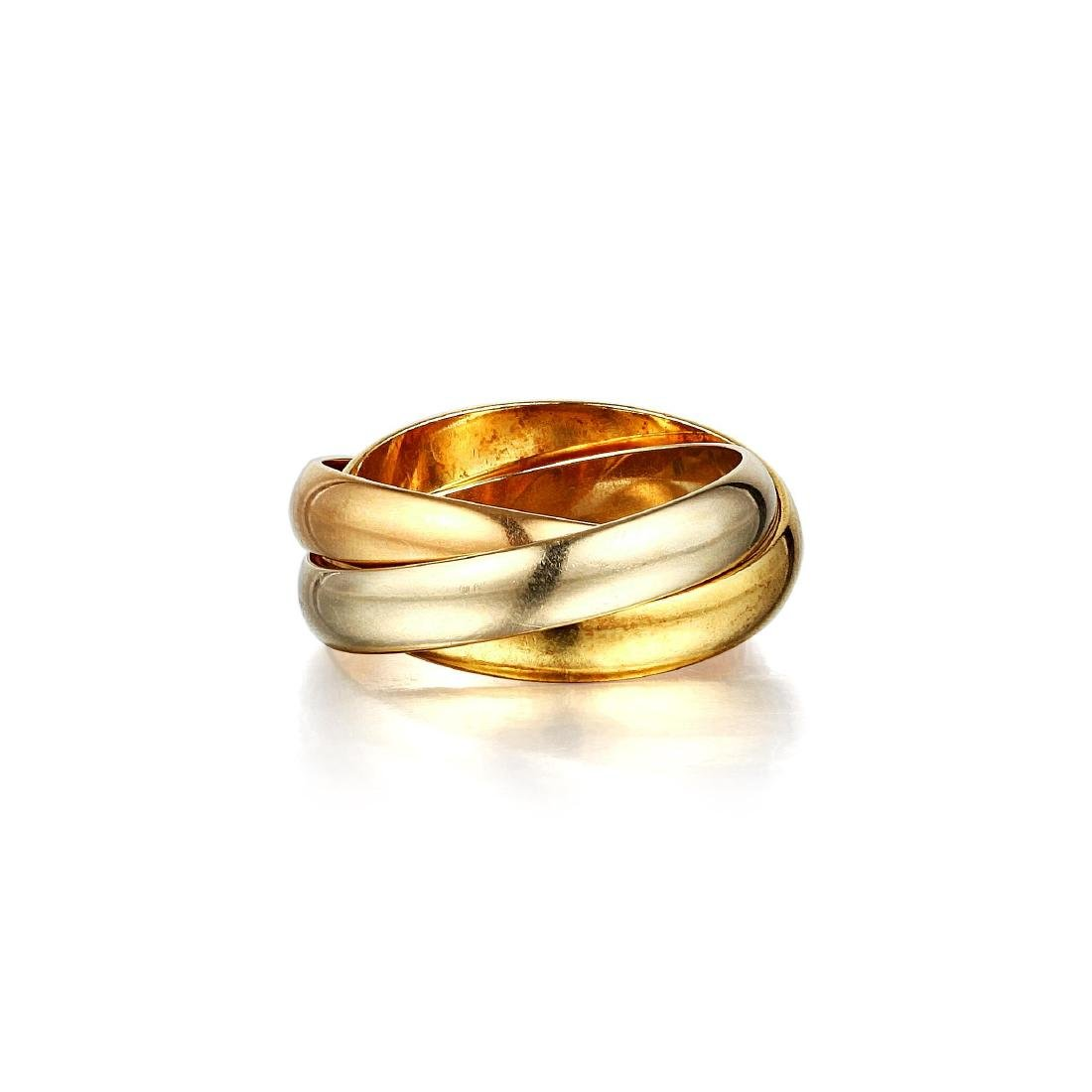 """Cartier Tri-Gold """"Trinity"""" Ring"""