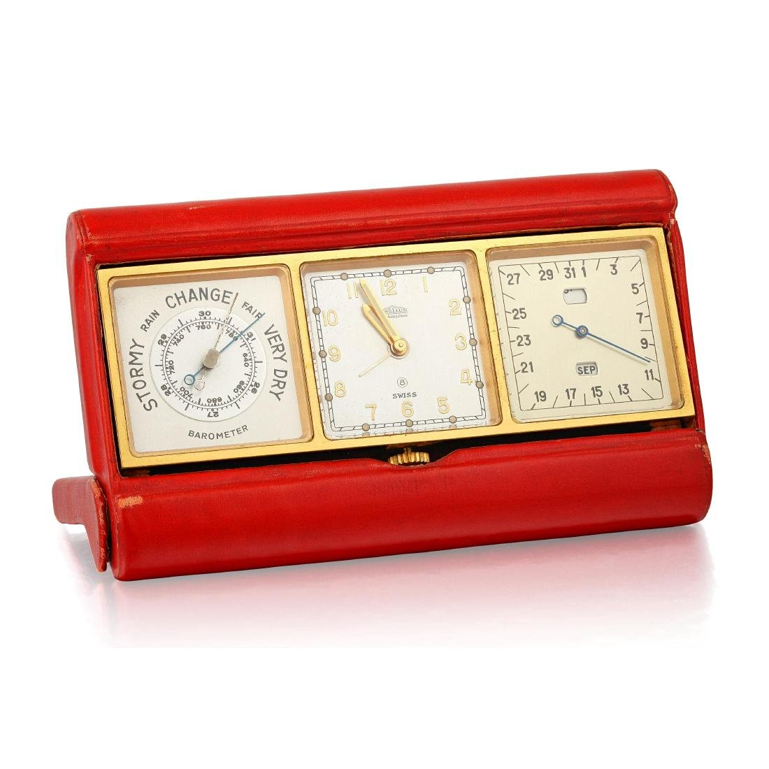 "A Vintage ""Angelus"" Desk Clock"