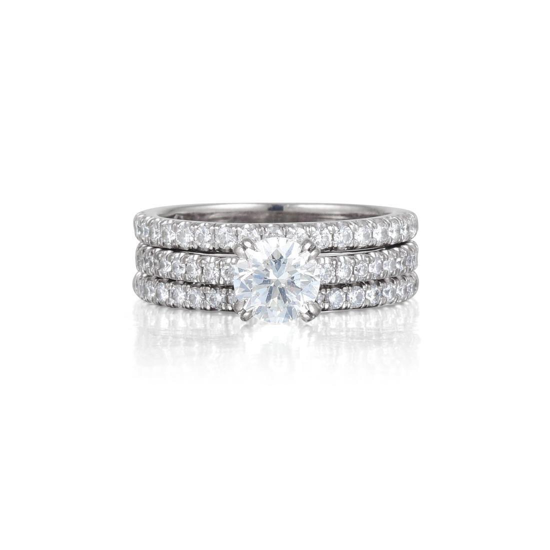 A Diamond Engagement Ring Set