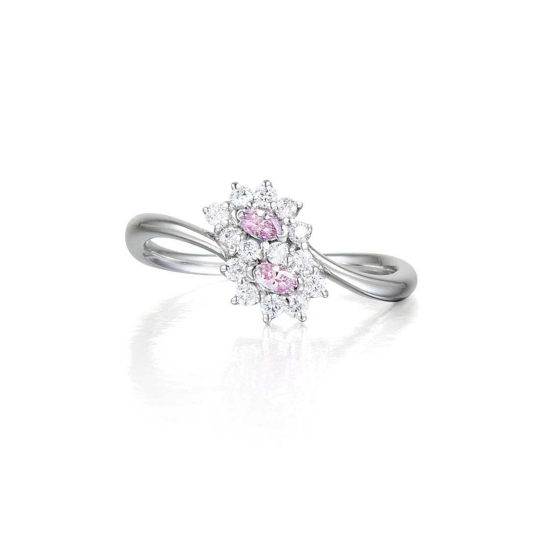 A Natural Pink Diamond Ring