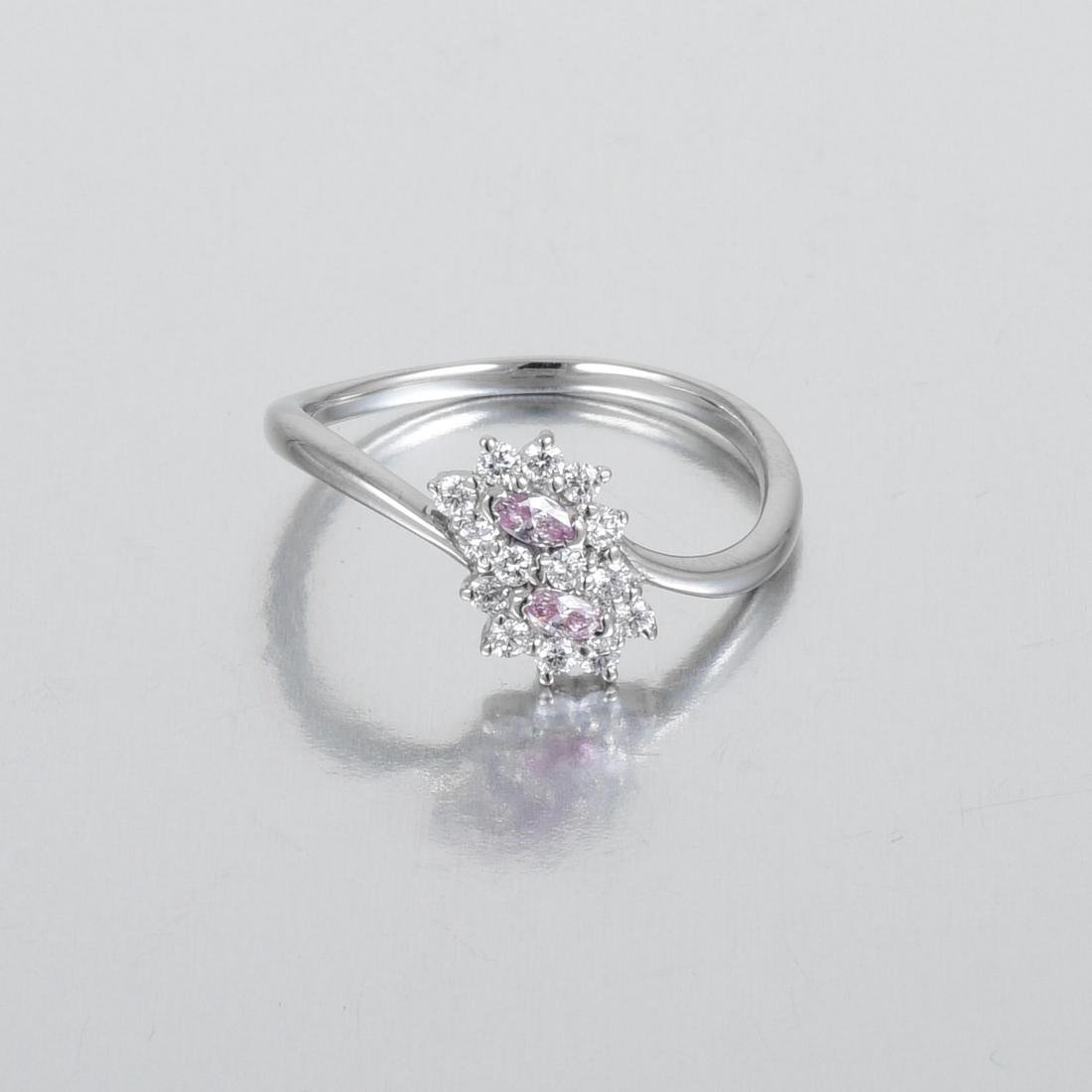 A Natural Pink Diamond Ring - 2