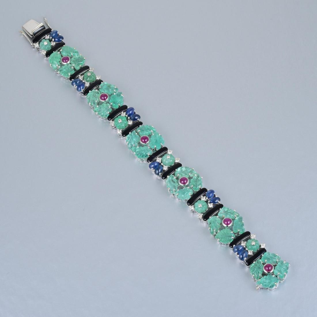 A Tutti-Frutti Multi-Gem and Diamond Bracelet - 2