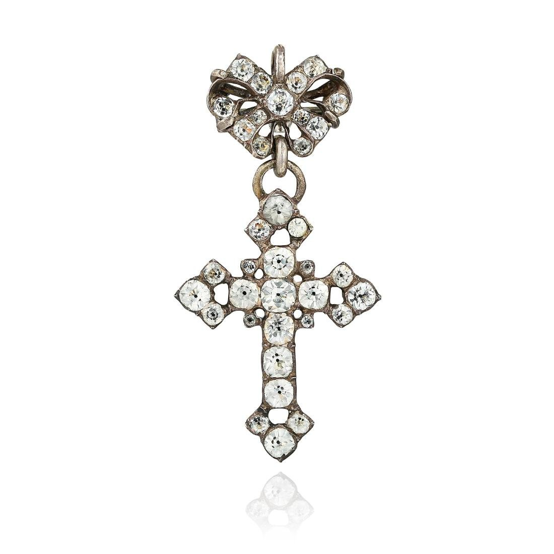 An Antique Paste Cross Pendant