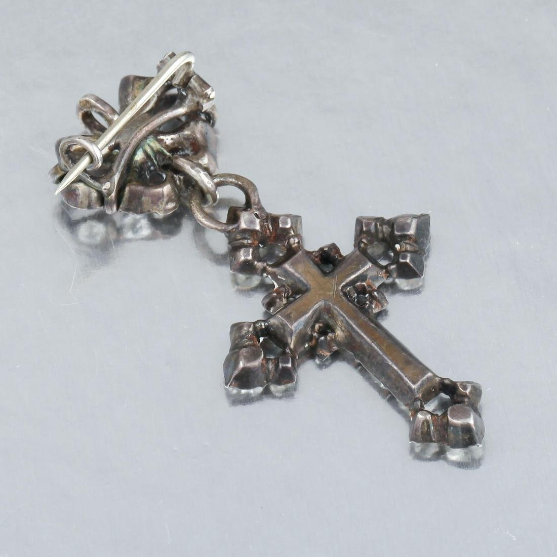 An Antique Paste Cross Pendant - 2