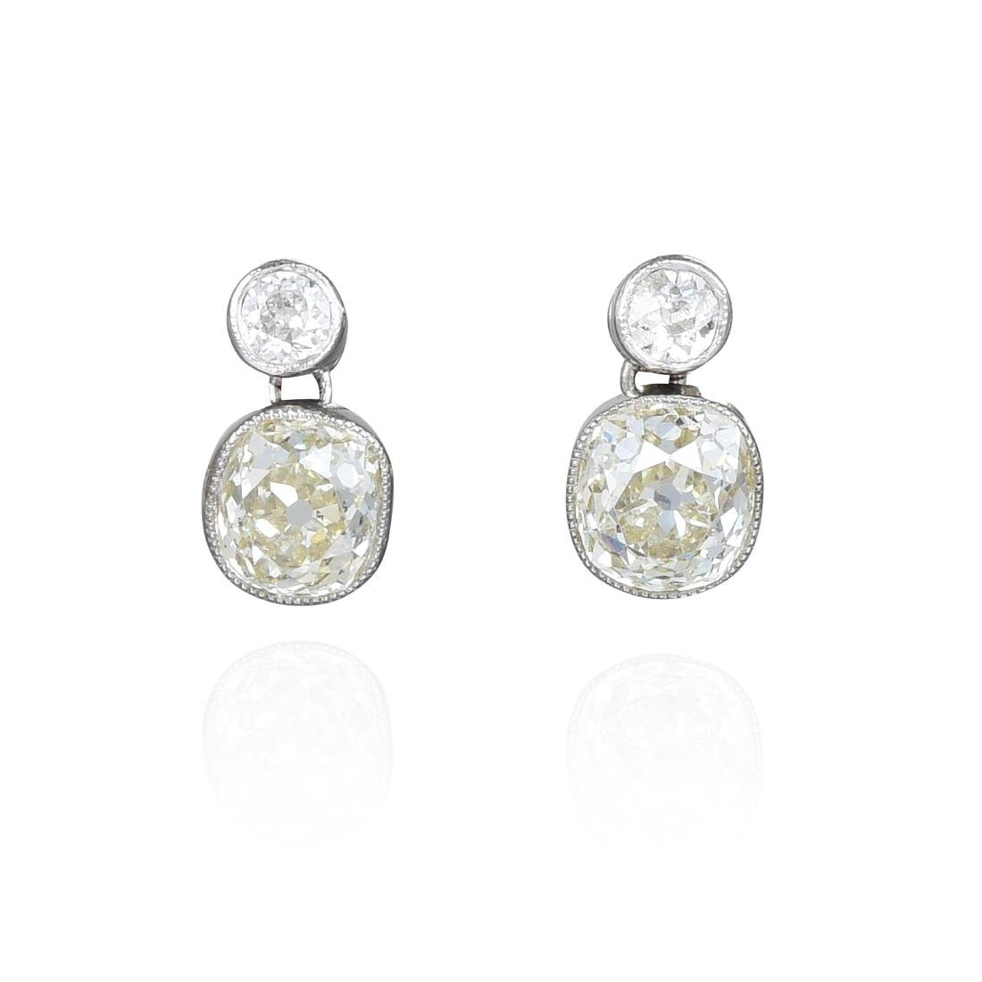 A Pair of Antique Diamond Earrings
