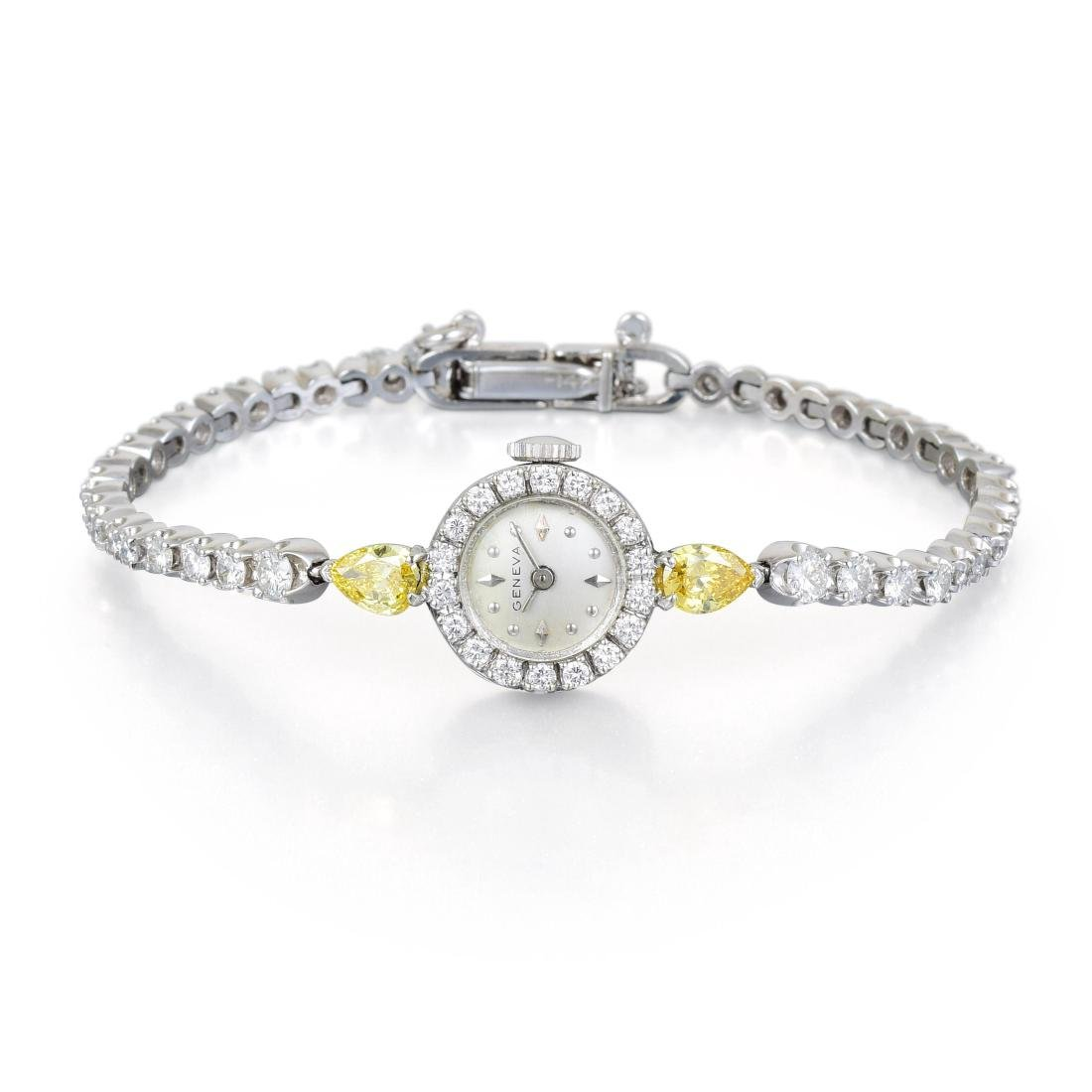 A Diamond and Gold Ladies Watch