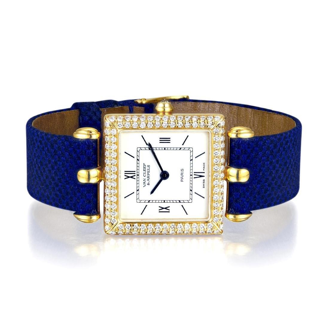 """Van Cleef & Arpels """"Classique"""" Gold and Diamond Watch"""