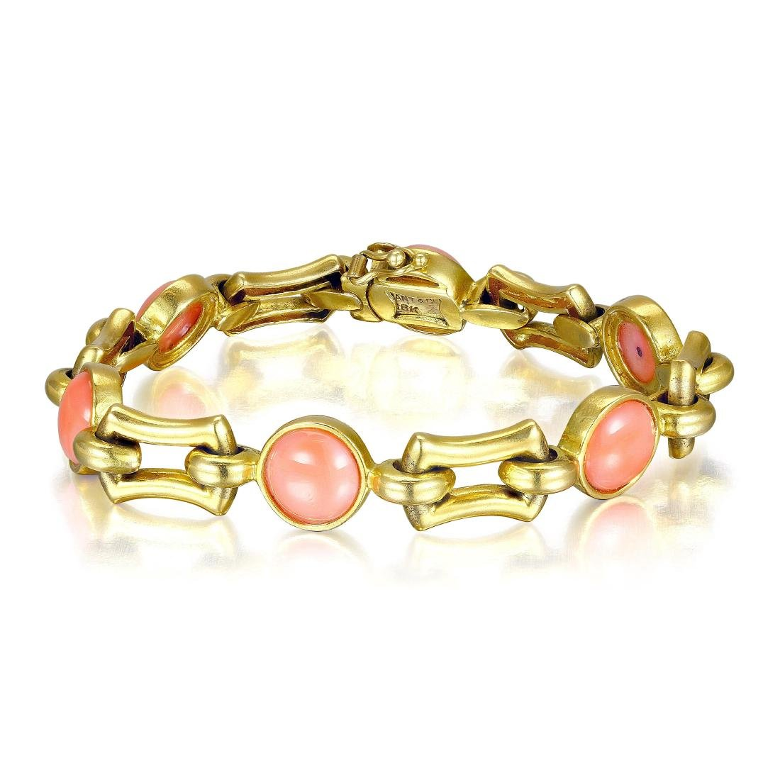 Tiffany & Co. Retro Coral and Gold Bracelet