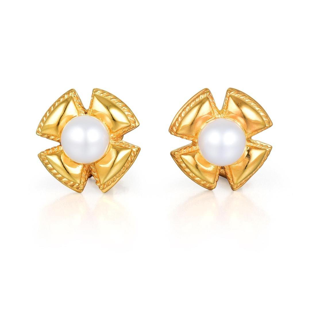 Tiffany & Co. by Jean Schlumberger Pearl Ear Clips