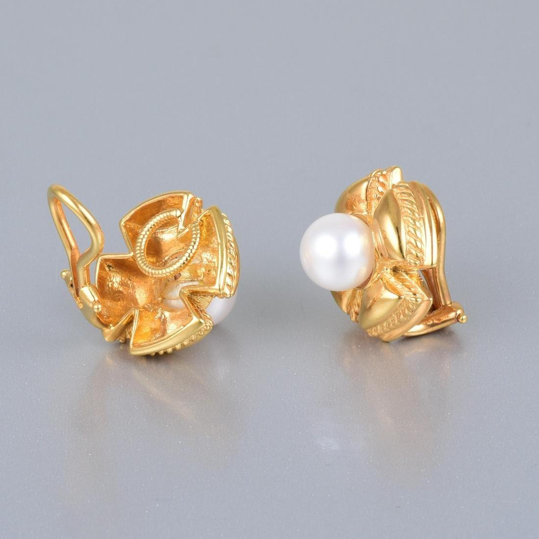 Tiffany & Co. by Jean Schlumberger Pearl Ear Clips - 2