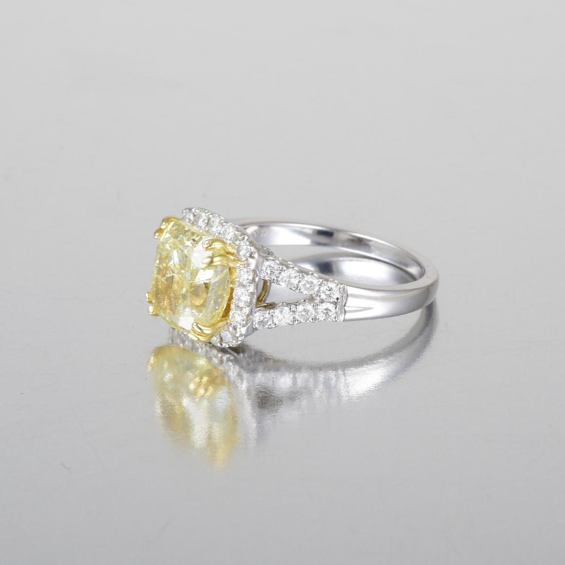 A 3.80-Carat Yellow Diamond Ring - 2