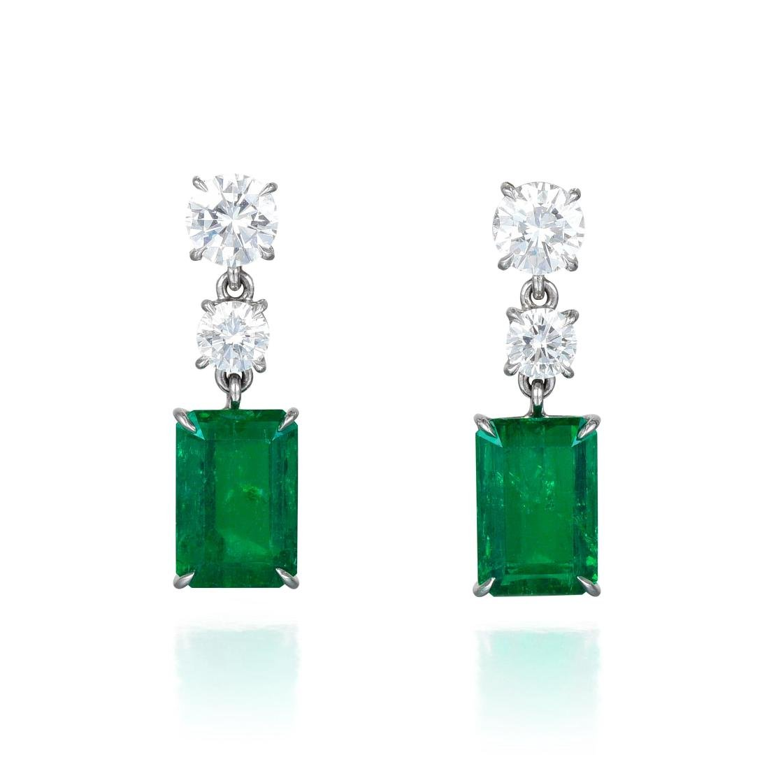 Aletto Bros Colombian Emerald and Diamond Earrings