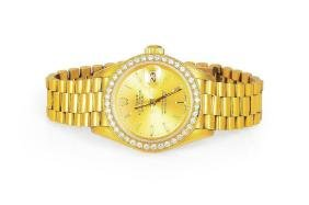 Rolex Oyster Perpetual Datejust Gold Ladies Watch