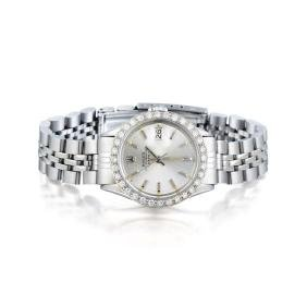 Rolex Oyster Perpetual Stainless Steel Diamond Watch
