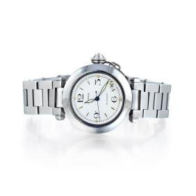 Cartier Pasha C White Dial Date Watch