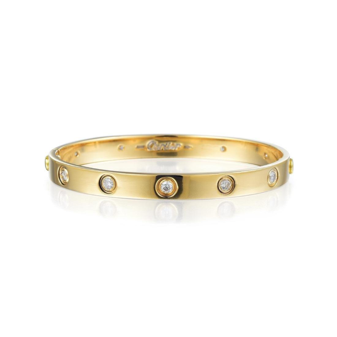 Cartier Diamond and Gold Love Bangle