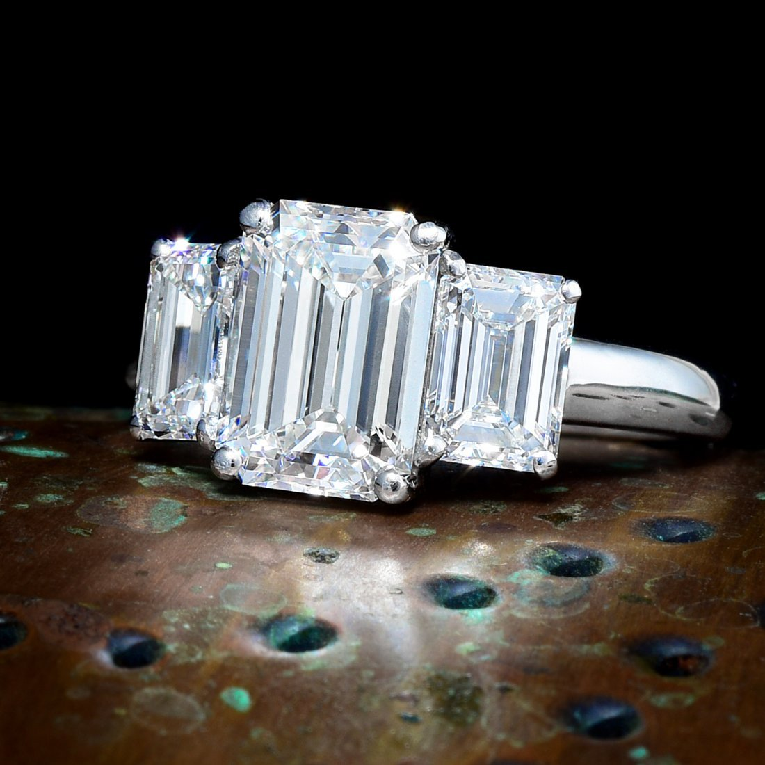 A 2.07-Carat Emerald-Cut Diamond Ring