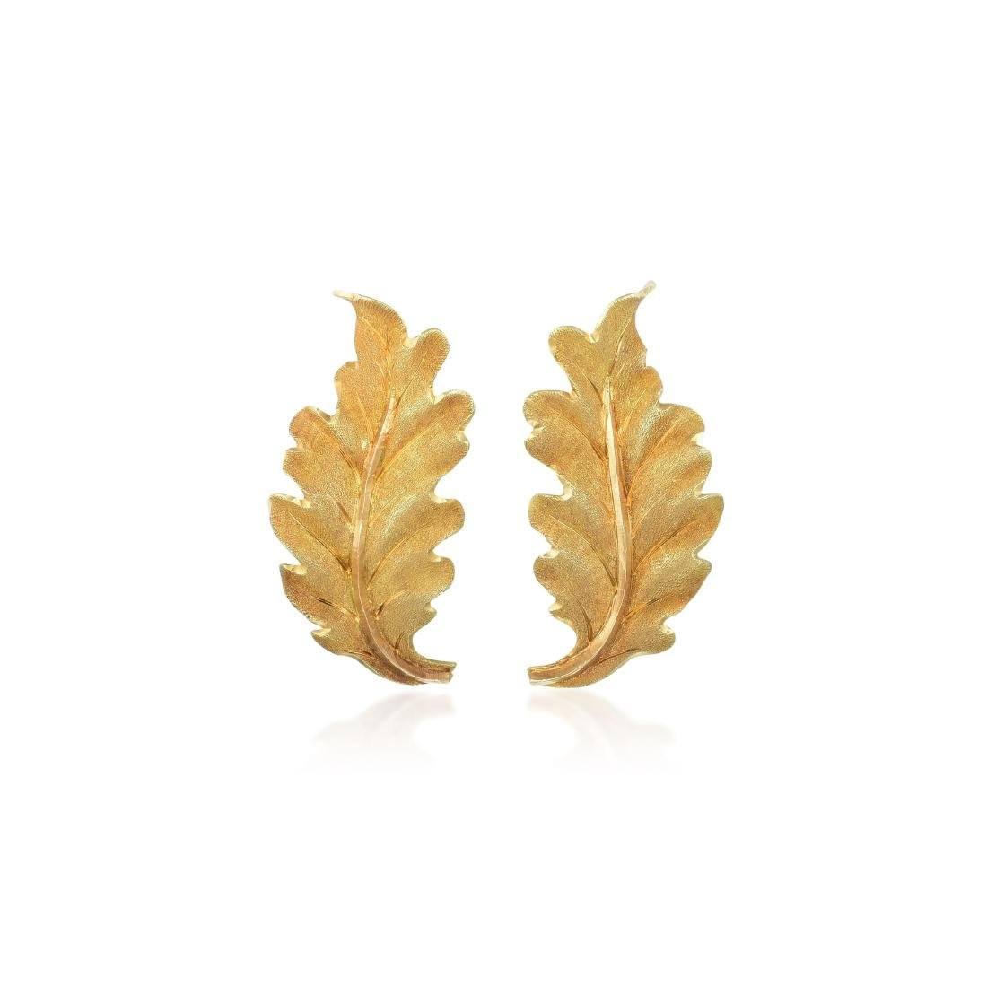 Buccellati Leaf Earrings