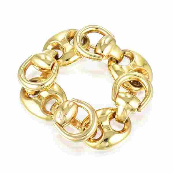 Gucci Grande Marina and Horsebit Gold Bracelet