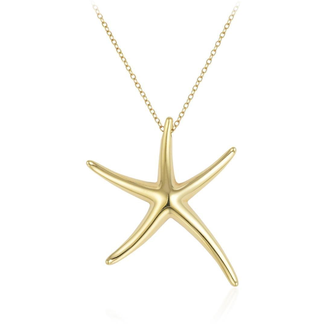 Tiffany & Co. Elsa Peretti Starfish Pendant Necklace - 2