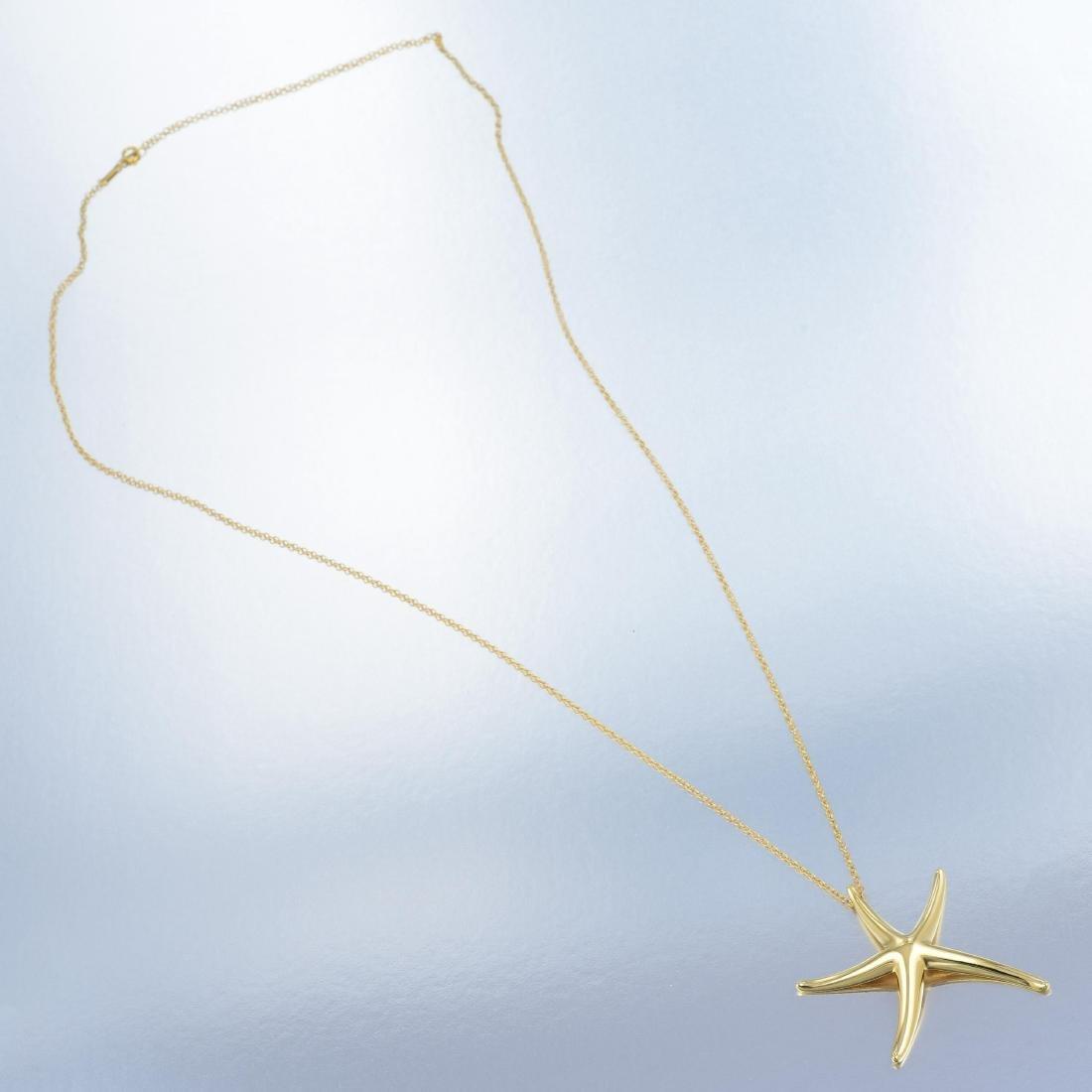 Tiffany & Co. Elsa Peretti Starfish Pendant Necklace - 5