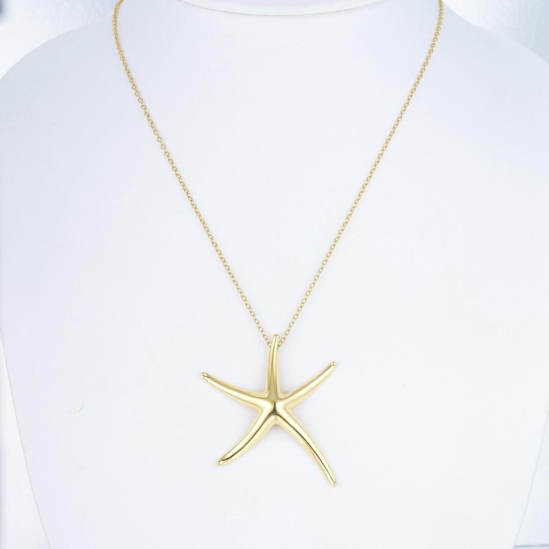 Tiffany & Co. Elsa Peretti Starfish Pendant Necklace - 6