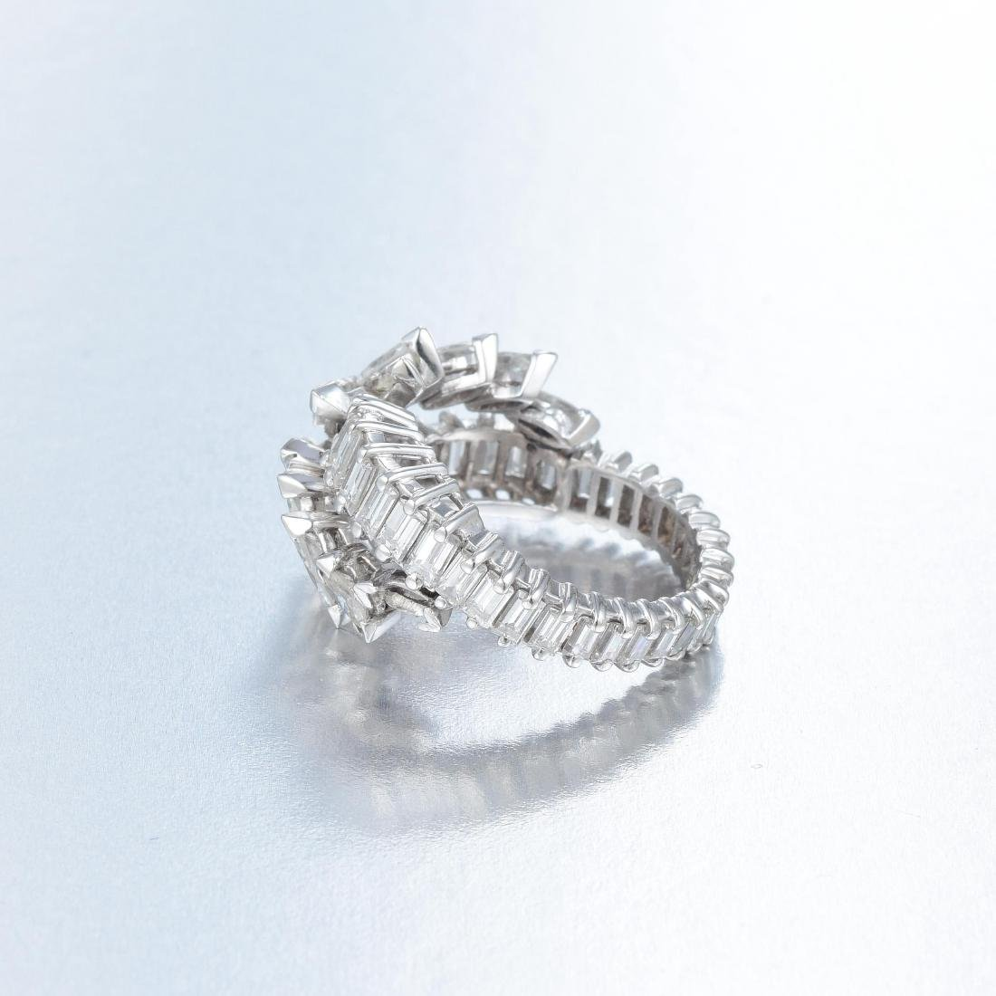 A Diamond Crossover Ring - 2