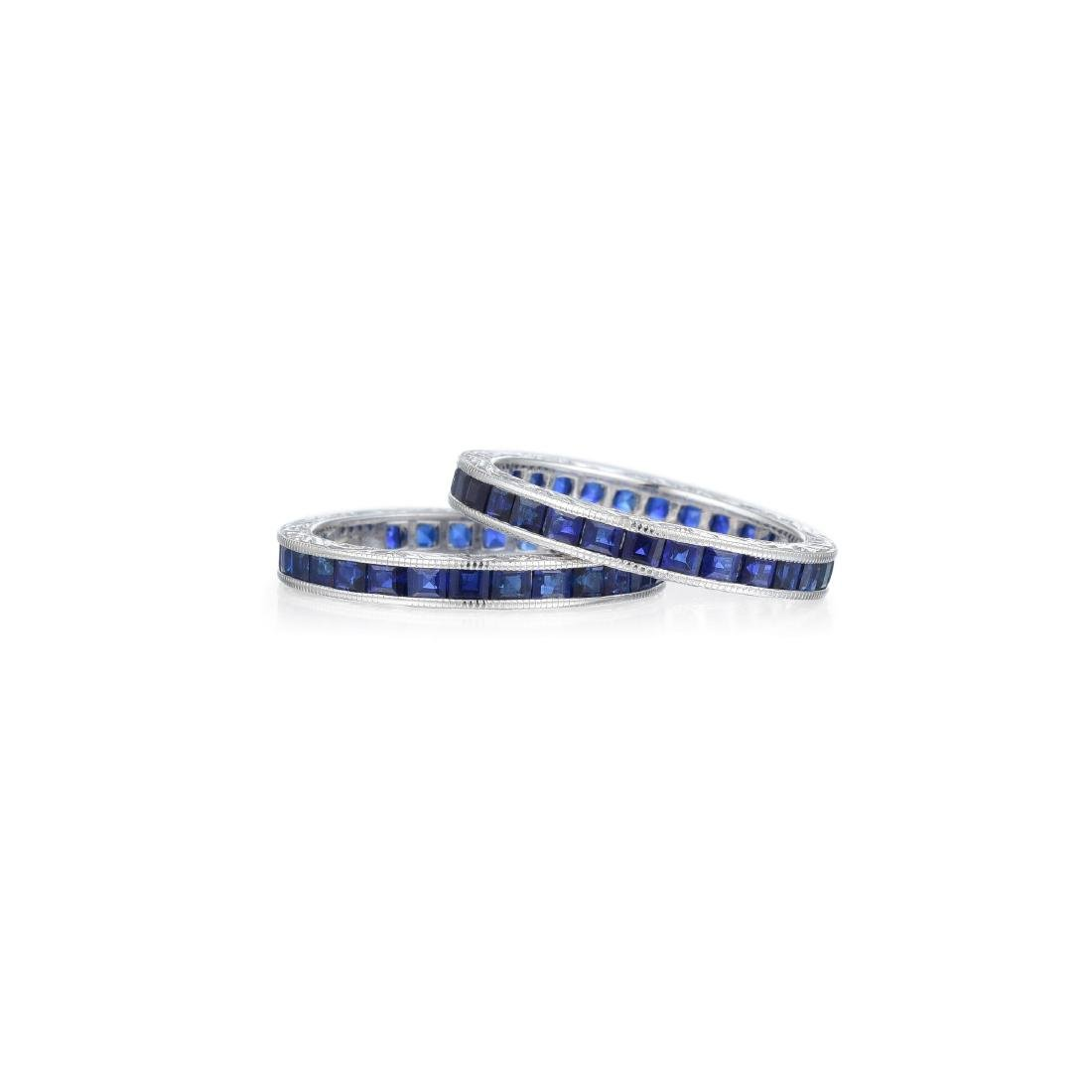 A Pair of Sapphire Eternity Bands